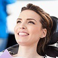 Smiling womn in dental chair