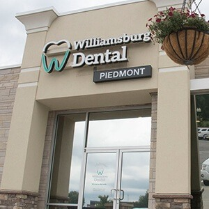 Exterior of Williamburg Dental Piedmont dental office building