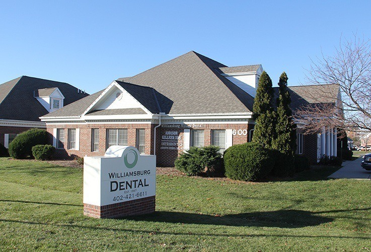 Outisde view of Williamsburg Dental on Village Drive