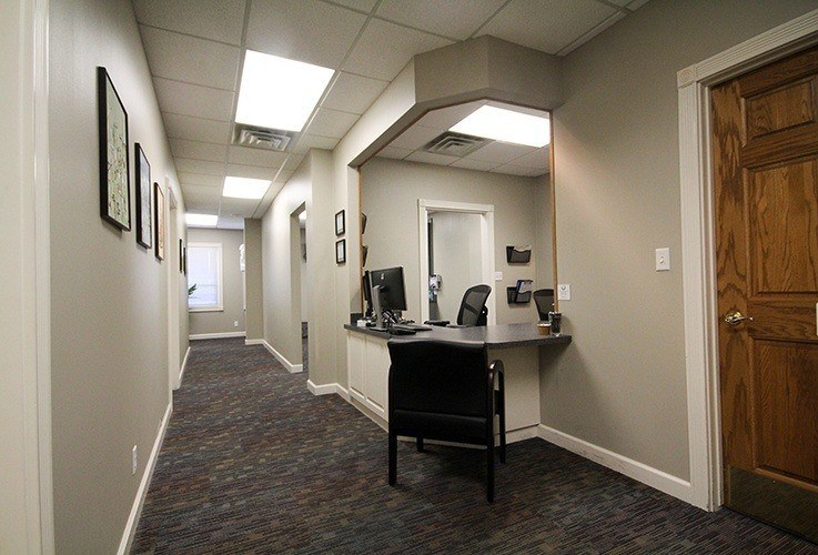 Hallway and business desk