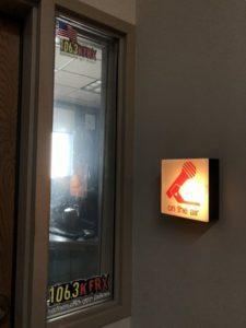 The 106.3 KFRX radio station.